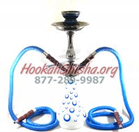Double Hose Bubbles Hookah Gun-Metal