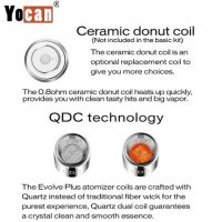 YOCAN EVOLVE PLUS WAX PEN REPLACEMENT COILS: QDC: Dual Quartz