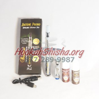 Rechargeable Vapor Pen Starter Set: Bastone Premio Chrome