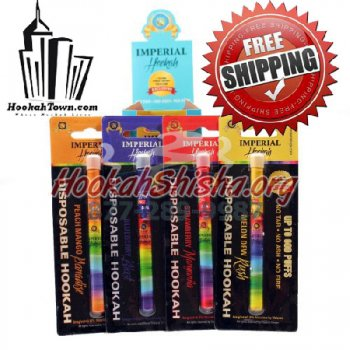 Imperial Disposable Hookah: Variety 5 Pack : 3000 Puffs