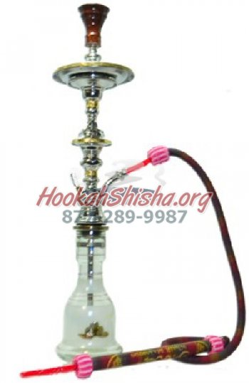 "WHITE Chalice Khalil Mamoon 31"" Single hose Hookah"