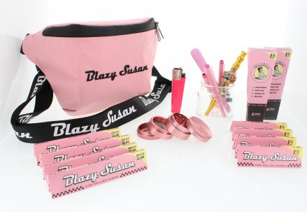 Blazy Susan - Odor Proof Storage Fanny Pack 15 Piece Gift Kit