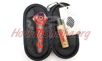 Bastone: Small Glass Tobacco Pipe Travel Kit