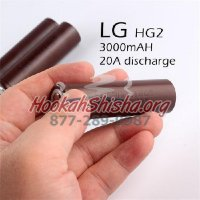 2 PACK OF LG HG2 18650 20A 3000MAH BATTERY 3.7V