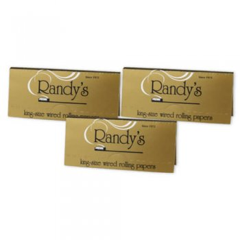 Randy's Classic's: King-Size Wired Rolling Papers 3-pack