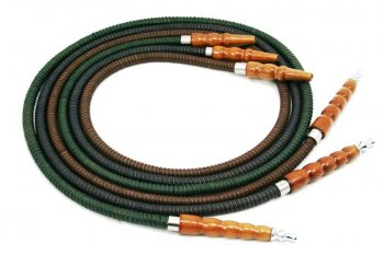 Mya Modern Metal Tip Leather Hookah Hose (6 ft)