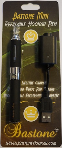 Bastone Dura Rechargeable Hookah Vapor Pen With Charger: Black