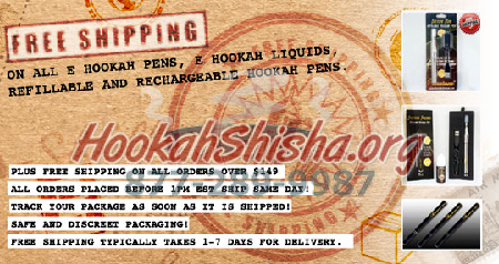 Free Shipping on All Hookah Pens Portable Hookah Vape