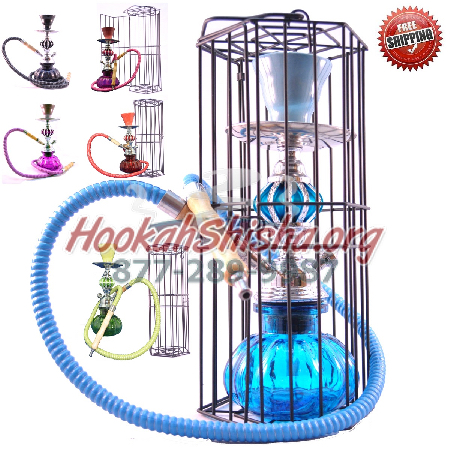 The Zen Hookah (Silver) w/ Cage (Free Shipping)