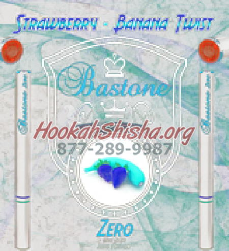 Rechargeable Hookah Pen Refill Bastone: Nicotine Free: Strawberry Banana Twist