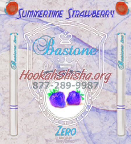 Refillable Hookah Liquid Bastone: Nicotine Free: Summertime Strawberry