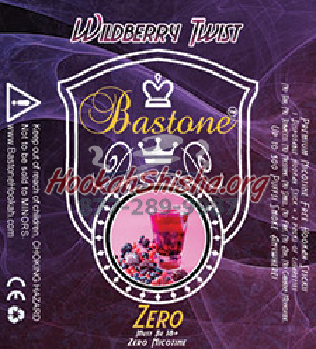 E Hookah Liquid Bastone Zero: Nicotine Free: Wildberry Twist: 500 Puffs