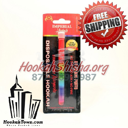 Imperial Nicotine Free Hookah Stick : Strawberry Margarita : 600 Puffs