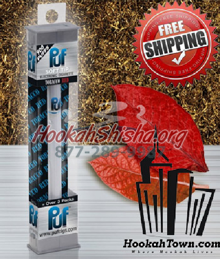 Red: Puf Soft Tip Disposable Hookah Stick: 900 Puffs